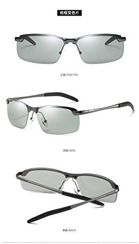 Nueva Silver Gafas polarized light Negro Xue Gafas Rectangular zhenghao Polarizada Polarizantes Anti De UV Luz Sol TgCWUAq0w