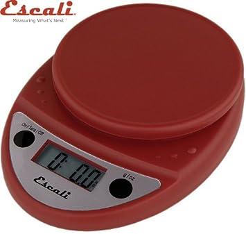 Escali Primo P115WR Digital Kitchen Food Scale-Warm Red