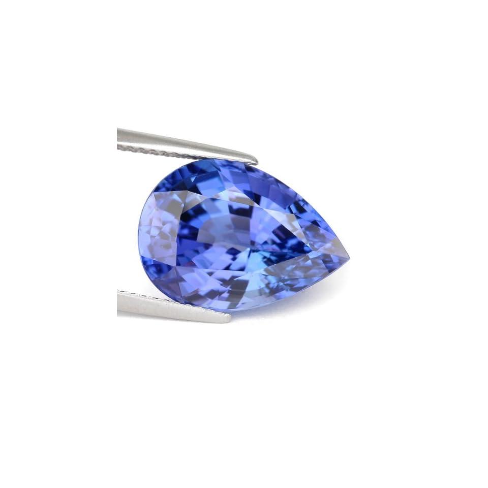 10.53 Ct. Vivid Color Natural Blue Tanzanite Loose Gemstone With GLC Certify