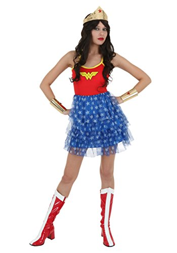 Wonder Woman Mini Skirt Dress (Large) (Large Image)