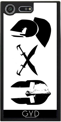 Funda Silicona para Sony Xperia XZ Premium - Cascos Y Espadas Espartanas. by loki1982