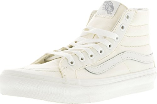 Vans Herren Sk8-Hi Slim Hight Top Lace Up Skateboard Schuhe BLANC DE BLANC