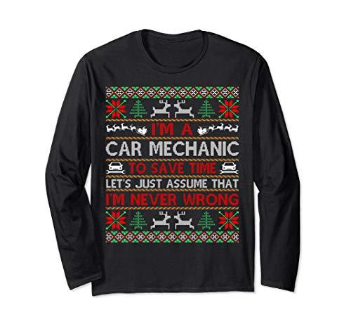 Car Mechanic Save Time Never Wrong Christmas Ugly Sweater