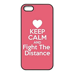 Red simple motto fashion cartoon Cell Phone Case for iPhone 5S