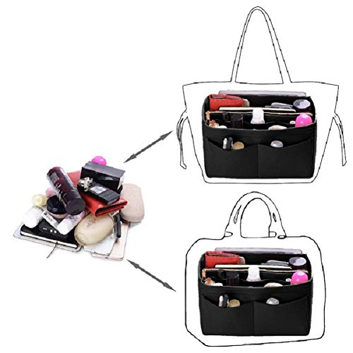 Purse Organizer Insert, Felt Bag organizer with zipper, Handbag & Tote Shaper, For Speedy Neverfull Tote, 5 Sizes