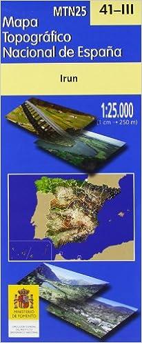Mapa irun 41-III 1:25000 mapa topografico nacional: Amazon.es: Aa ...