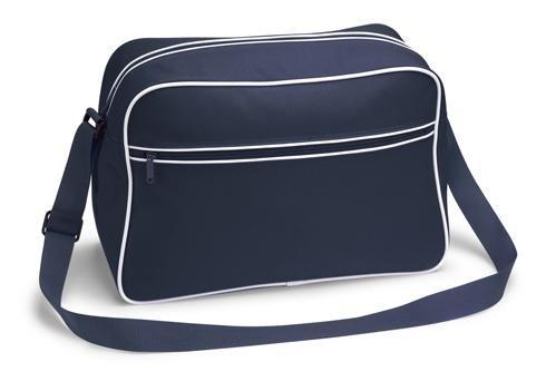 bandolera marino azul de noTrash2003 negro los diseño negro azul marino Bolsa con 70 ribetes años nailon qW5ROf