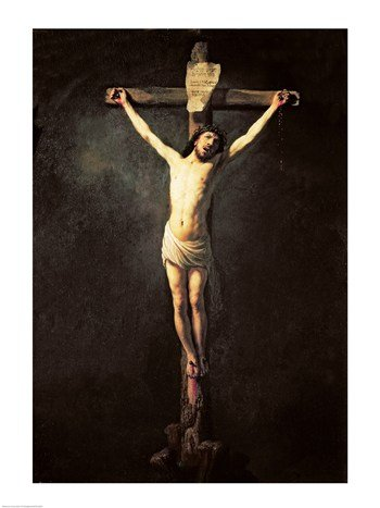 Posterazzi Christ on The Cross Poster Print by Rembrandt Van Rijn, (18 x 24), Varies