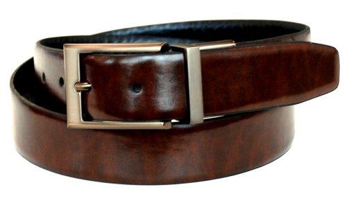 Dockers Men's Reversible Belt with Bronze-Tone Buckle,Brown/Black,34