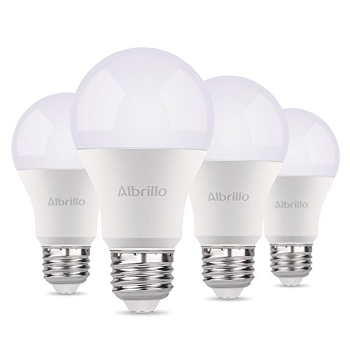 Albrillo A19 Light Bulb E26 LED Bulb 9W, 60 Watt Light Bulbs Equivalent 800 Lumen, Soft White Medium Base Bulb Smart Home Lighting No-Dimmable, 4 Pack For Sale