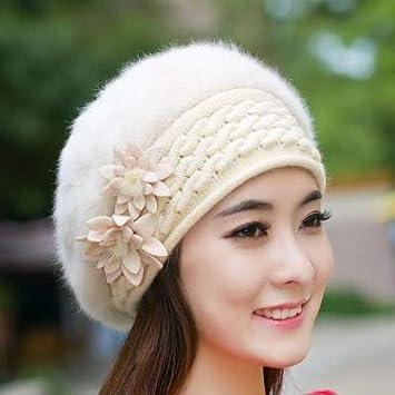 95a359262dfdee HOKUGA: Beanies Women Fur Winter Women's Hats Beret Girls Knitted Winter  Hats For Women Bonnet