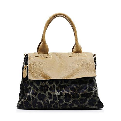 ZENTEII Women Genuine Leather Shoulder Bag (Leather Print Hobo Bag)