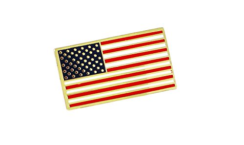 American Flag USA Patriotic Enamel Diestruck Lapel Pin Gold Tone Metal Value Pack 13 Stripes 50 Stars (1 (Flag Design Lapel Pin)
