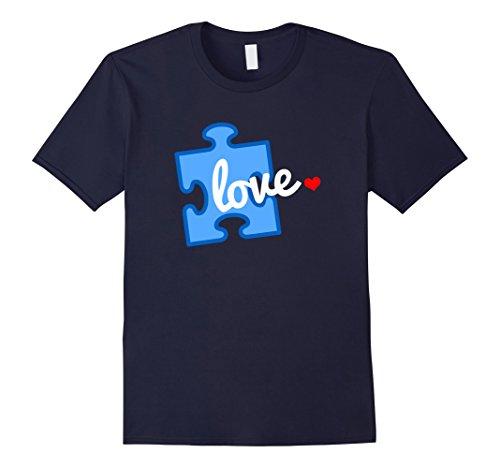 Men's Autism Awareness Puzzle Piece Autism T-Shirt Medium...