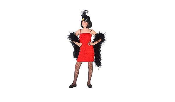 DISBACANAL Disfraz de Charleston Rojo para niña - Único, 5-6 años ...