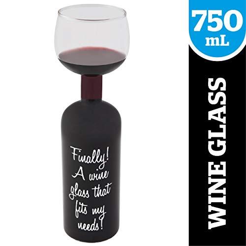 BigMouth Inc Ultimate Wine Bottle Glass, Holds Full Bottle o