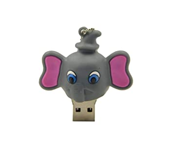 16GB Color : Dark Grey Dark Grey Special for All Kinds of Festival Day Gifts Elephant Shape Silicone USB2.0 Flash Disk Durable