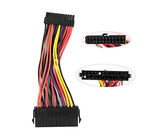 [해외]ExHung® 24 핀 ATX 여성 → 미니 24 핀 ATX 수 컷 용 전원 변환 케이블 DELL Optiplex 760 780 960 980 SFF 용 / ExHung® 24-pin ATX female → mini 24-pin ATX male power conversion cable for DELL Optiplex 760 780 960 980 SFF