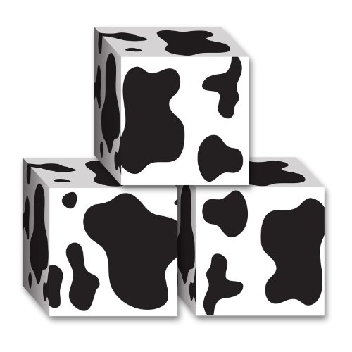 Beistle Cow Print Favor Boxes (Cow Tabletop)