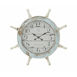 41d8AJJLnJL._SS300_ Best Ship Wheel Clocks