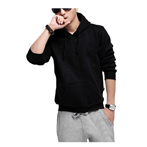 Mens Dri Power Hooded Pullover Fleece Sweatshirt Baseball Jacket Black XX-Large