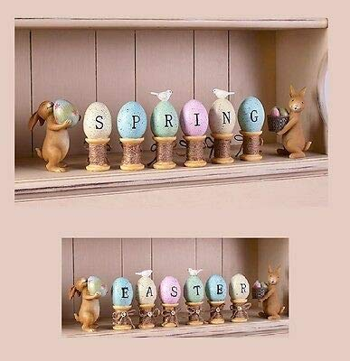 8-Pc. Bunny and Egg Figurines -