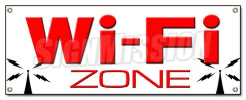 GN wifi internet cafe hotspot signs ()