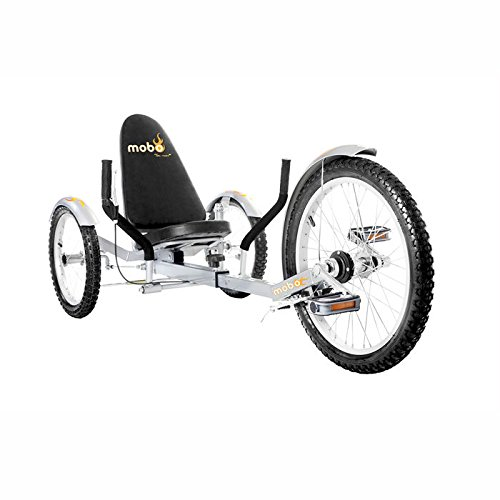Mobo Triton Pro Recumbent Tricycle for Men & Women. 3-Wheeled Bike. Cruiser Lowrider (Recumbent Trike)