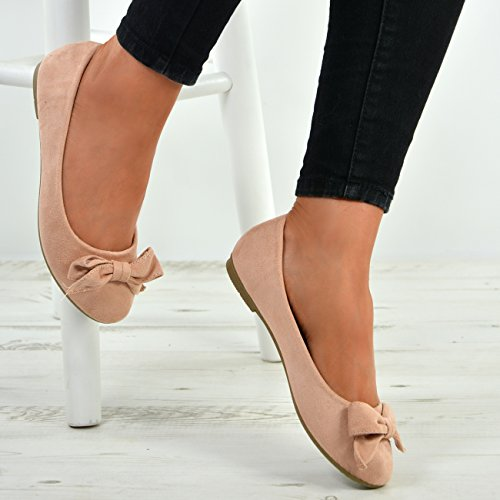 Fashion New Flat Cucu Suede Ballet Pumps Heels On Shoes Pink Ballerinas Ladies Slip Low Womens Dolly dq1HwHS5