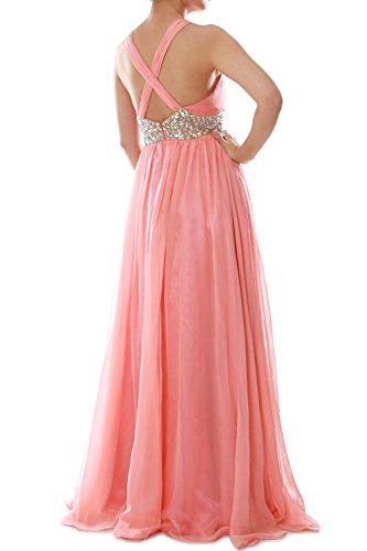 Formal Prom Grau Gown Long Neck MACloth Dress Wedding Chiffon Ball Women V Straps YSwzwFAqa