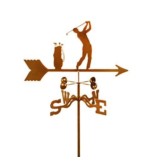 Golfer - Male Roof Mount Weathervane