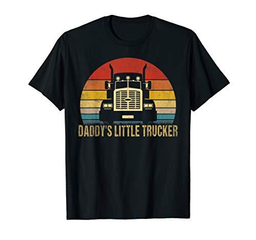 - Kids Semi Truck Boys Gift Daddy's Little Trucker T-Shirt T-Shirt