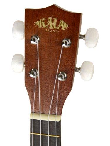 Kala KA-15S Mahogany Soprano Ukulele with FREE Deluxe Stronghold brand soprano uke soft case gig bag - Image 4