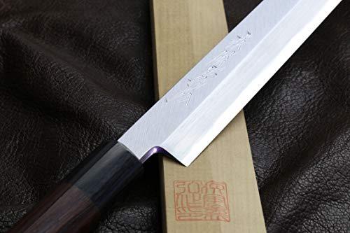 Yoshihiro Hongasumi White Steel Sakimaru Takobiki Sushi Sashimi Japanese Knife (10.5'' (270mm)) by Yoshihiro (Image #3)