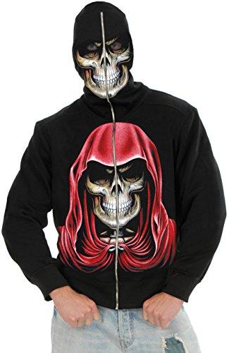 New Men's Teen 40-42 Empire Reaper Costume Hoodie Sweatshirt (Skeleton Hoodie Teen Costume)