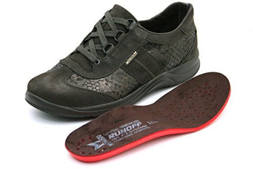 Cuero Zapatos Mujer P5101074 5400 Nobuck Laser Mephisto Marrón Casual Para Black Stylbuck Oscuro De xX8pWq4