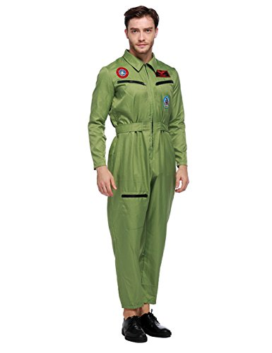 Military Costume Zombie (Colorful House Men's Pilot Flight Suit Adult Costume)