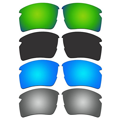 4 Pair Replacement Polarized Lenses for Oakley Flak 2.0 XL Sunglasses Pack - Jacket Xl Flak