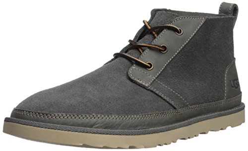 UGG Men's Neumel Unlined Leather Sneaker, Charcoal, 10 M US