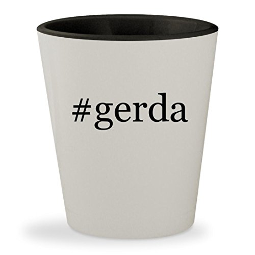 Weissman Costumes Facebook (#gerda - Hashtag White Outer & Black Inner Ceramic 1.5oz Shot Glass)