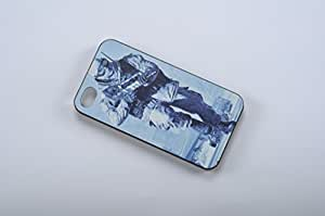 FBA 3 regalo de Navidad - case por iphone 4 / 4s Soldiers with guns negro funda