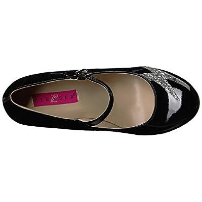 Pleaser Pink Label Women's Queen02/Cr-sg Dress Pump | Pumps