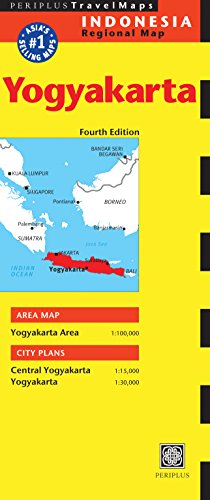 Yogyakarta Travel Map Fourth Edition (Periplus Travel Maps)