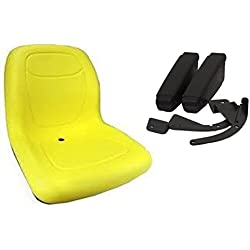 New Yellow HIGH BACK SEAT w ARM RESTS for Cub Cadet Zero Turn Lawn Mower Tractor by The ROP Shop