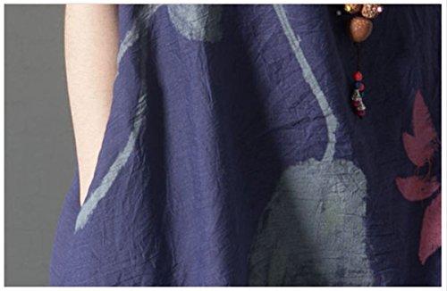 レディース 夏 ワンピース ロング丈 半袖 体型カバー 花柄 ゆったり 大きいサイズ