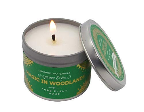 Pure Plant Home Magic in Woodlands Holiday Candles Travel Tin Vegan Coconut Wax Pure Essential Oils 3 - Travel Tin Holiday