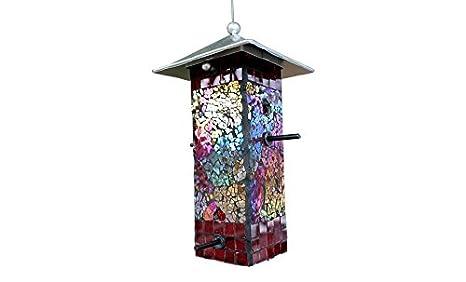 Etonnant Bluedot Trading Stained Glass Mosaic Bird Feeder