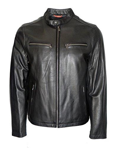 Dockers Men's Leather Latch Collar Racer, Black, XL