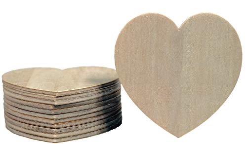 - Creative Hobbies Unfinished Wood Heart Cutout Shapes, Ready to Paint or Decorate, 3.5 Inch Wide, Pack of 12