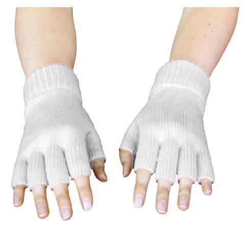6f8f08aa794e4a PARTY DISCOUNT Handschuhe gestrickt weiß Party-Discount fingerlos